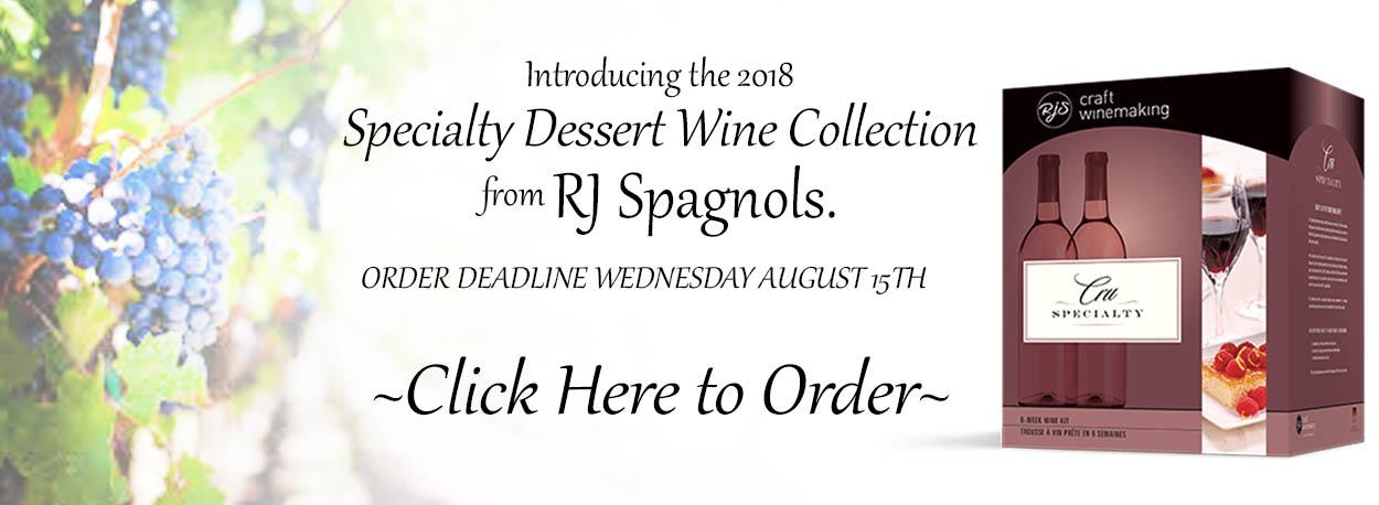 RJ Dessert Wine Kits