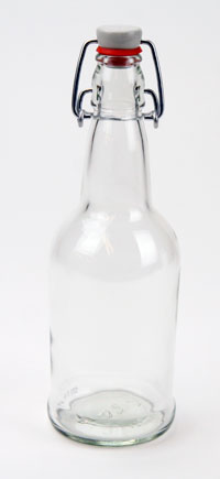 Beer Bottles, 16 oz E-Z Cap, Clear Glass, Each