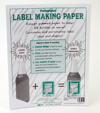 Plain Label Paper: White (1)