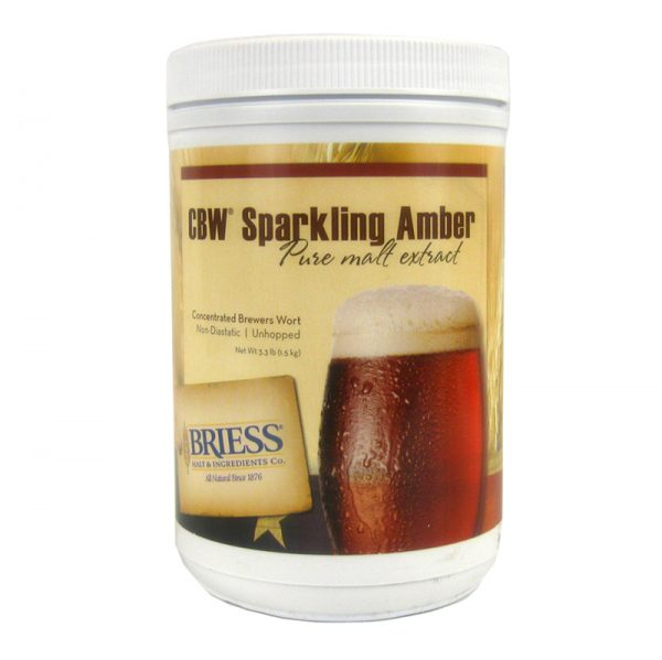 Briess Sparkling Amber Liquid Malt Extract, 3.3 lb-0