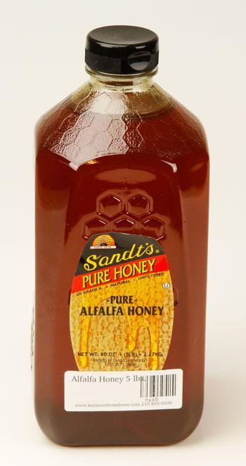 Alfalfa Honey 5 lbs. (1)