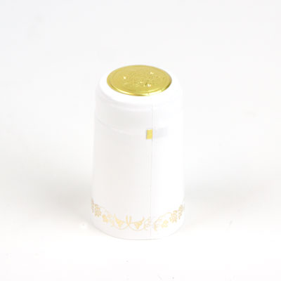 Heat shrink cap: white w/gg (30) (1)