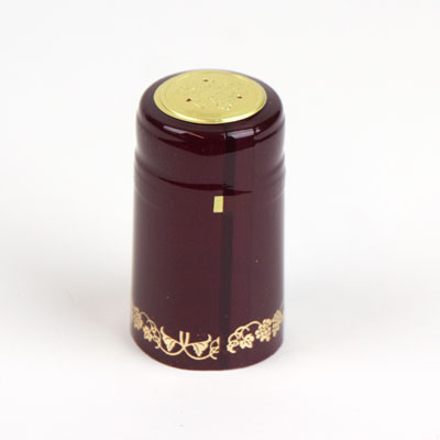 Heat shrink cap:Burgundy w/ gg (30) (1)