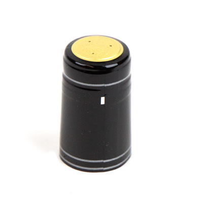 Heat shrink cap: Black w/ SS (30) (1)