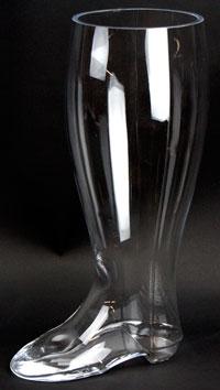 2 Liter Glass Boot: Mouth Blown (1)