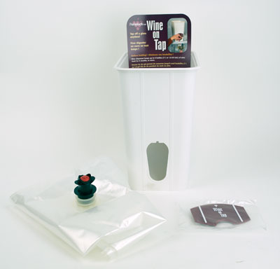 Wine on tap Container: bag & tap (1)
