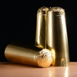 Champagne Foils: Gold 100pk (1)
