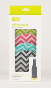 Chevron Glass: Coaster Set of 4 (1)