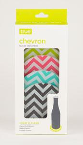 Chevron Glass: Coaster Set of 4 (1)