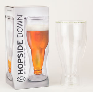 Hopside Down:Beer Bottle Glass (1)