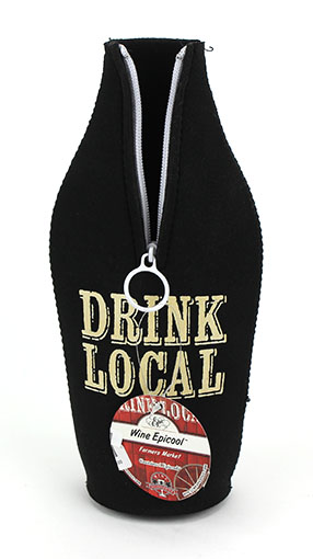 Drink Local:Neoprene Wine Koozie (1)