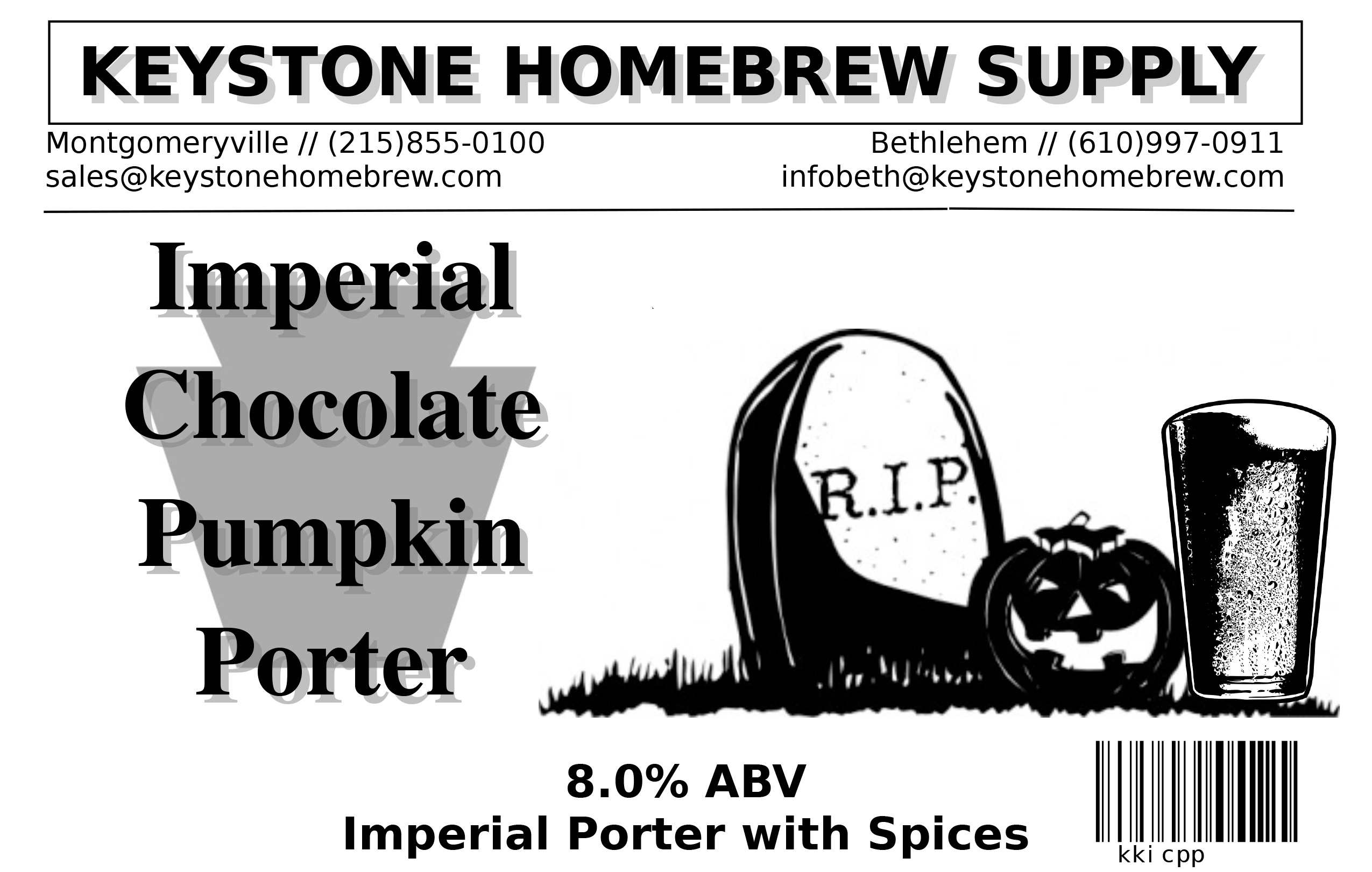 Imp Choc Pumpkin:Porter Box Kit (1)