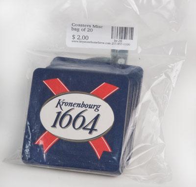 Sleeve of 120 :Newcastle coasters (1)
