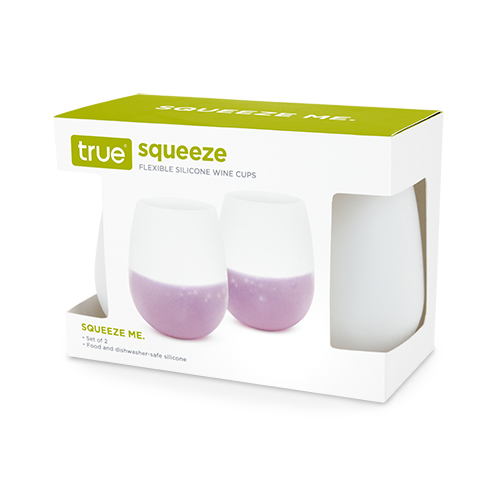 SQUEEZE Flexible:Silcone Wine Cup 2pk (1)