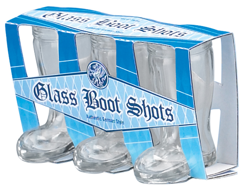 Mini Boot Shot:Glass Set of 3 (1)