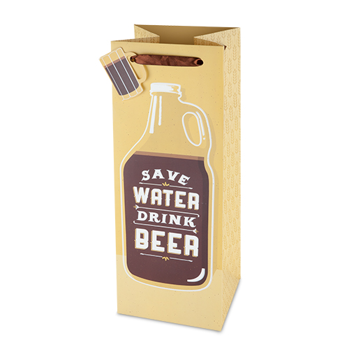 Save Water Drink:Beer Growler Bag (1)