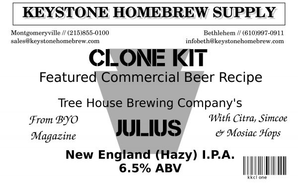 Treehouse Julius NE:IPA Clone Box Kit (1)