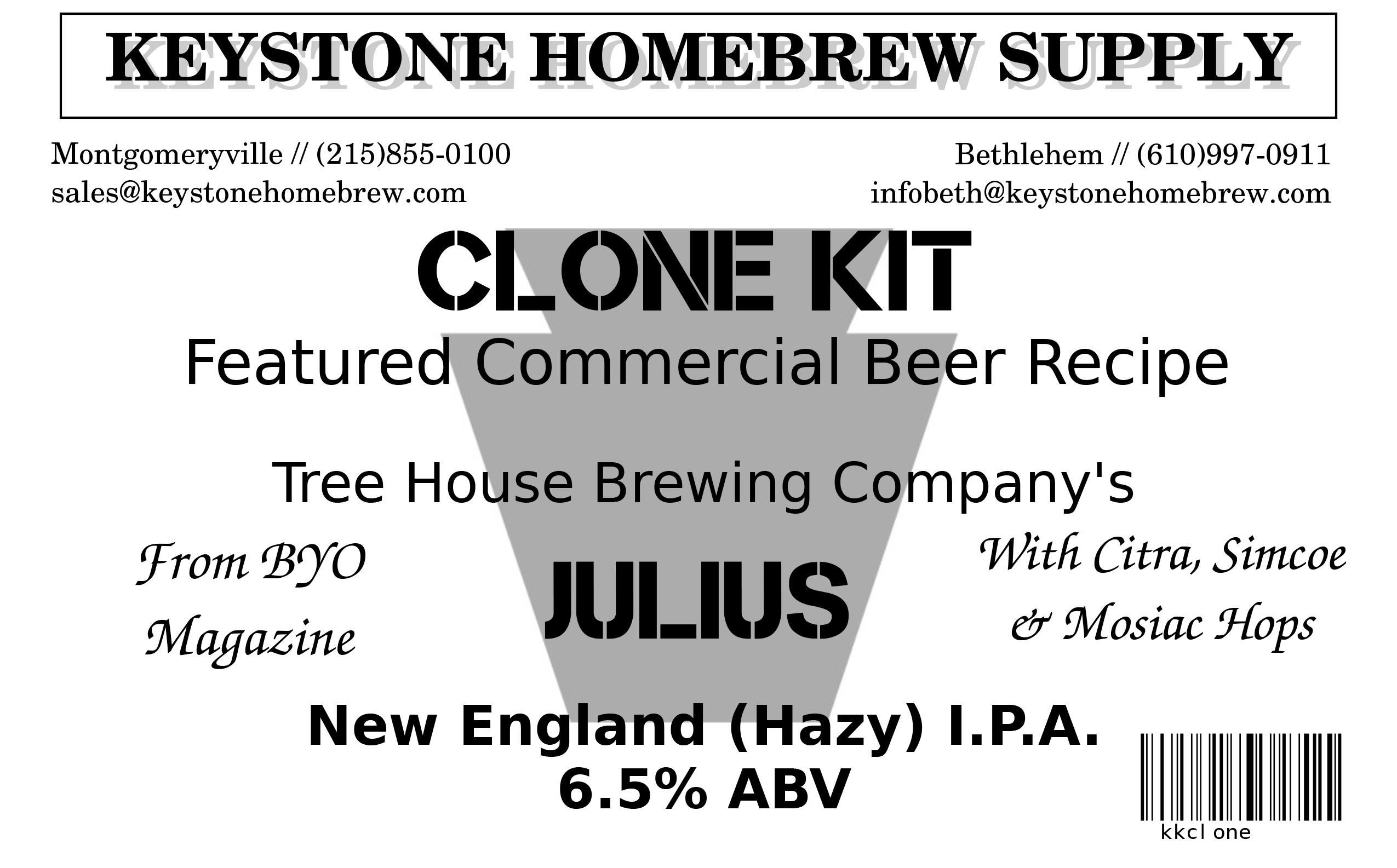Treehouse Julius NE:IPA Clone Box Kit (1)