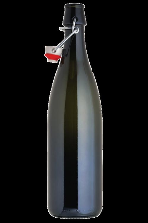 750ml Flipper Green:Bottle 12/cs w/Tops (1)