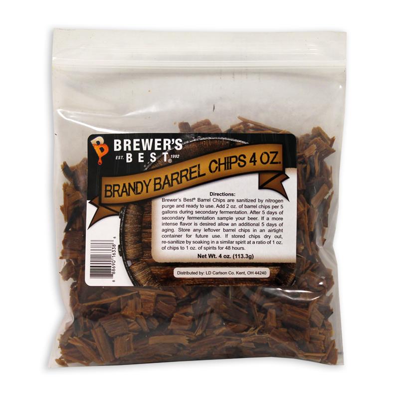 Brandy Barrel:Oak Chips 4oz. (1)
