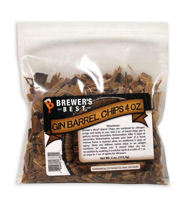 Gin Barrel:Oak Chips 4oz. (1)