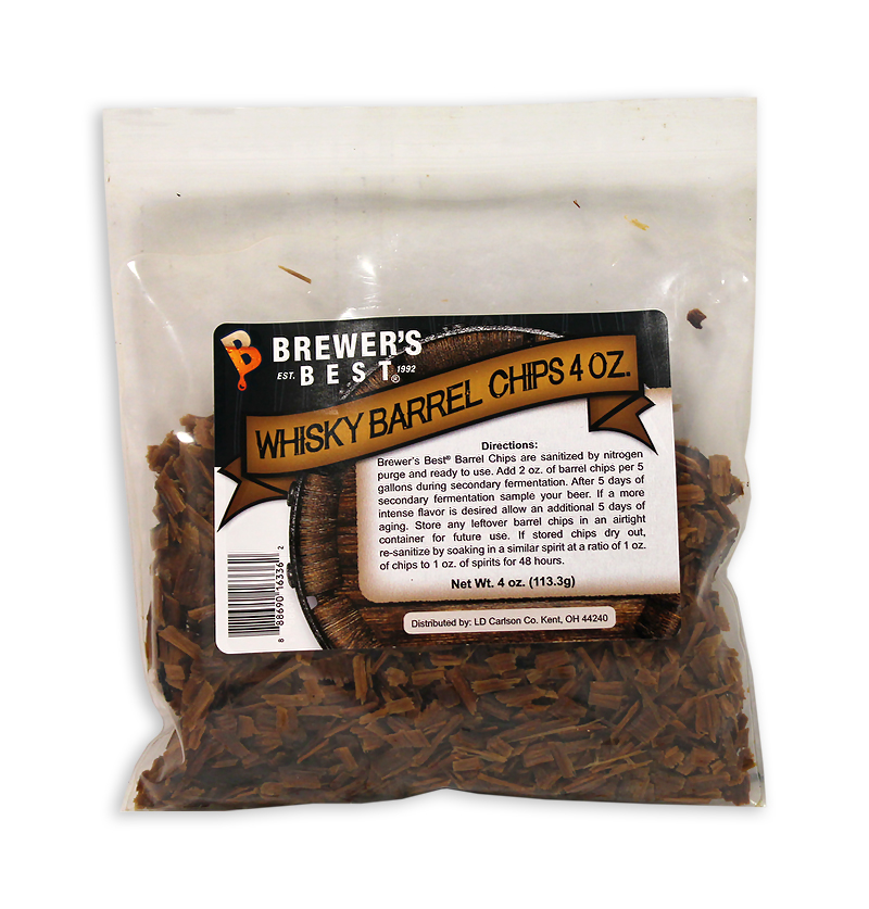 Whiskey Barrel:Oak Chips 4oz. (1)