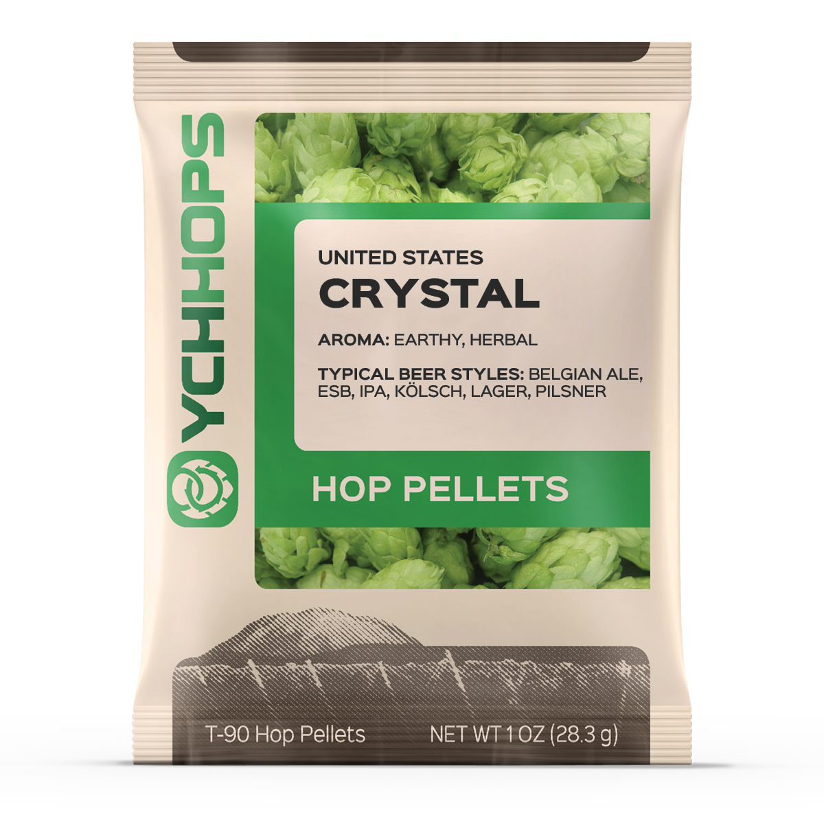 Crystal 1oz Pellets: 3.7% AA (1)