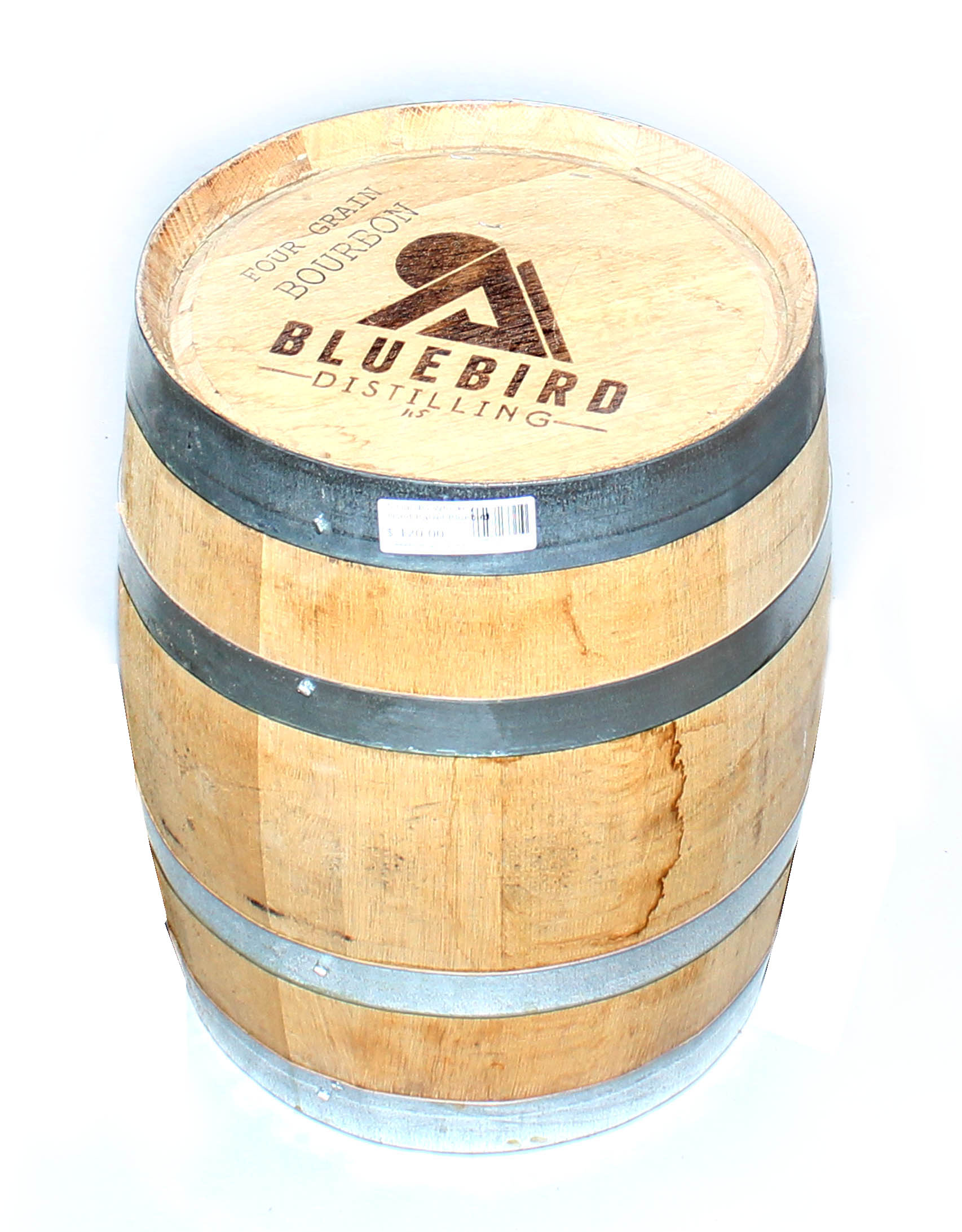 5 Gal. Bluebird Distilling Wheat Whiskey Barrel-0