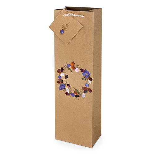 Kraft Wildflower:Bottle Gift Bag (1)