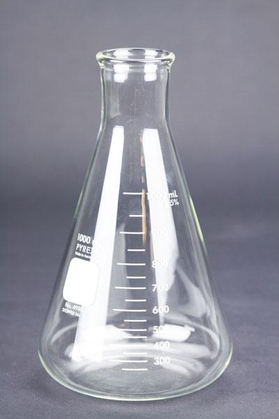 1000 ml Erlenmeyer: Pyrex Flask (1)