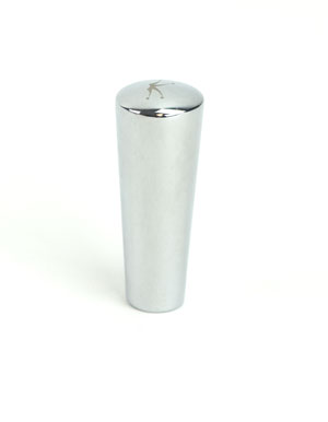 Faucet Knob:Tapered Stainless (1)