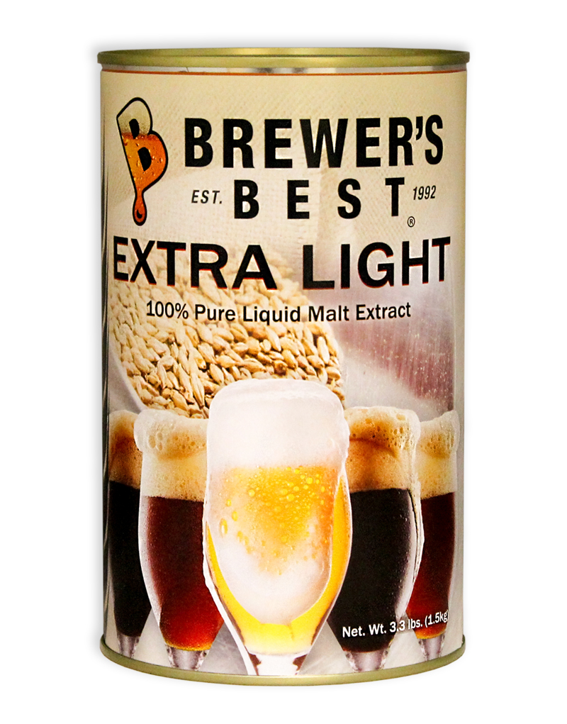 Brewer's Best Extra Light Liquid Malt Extract, 3.3 lb-0