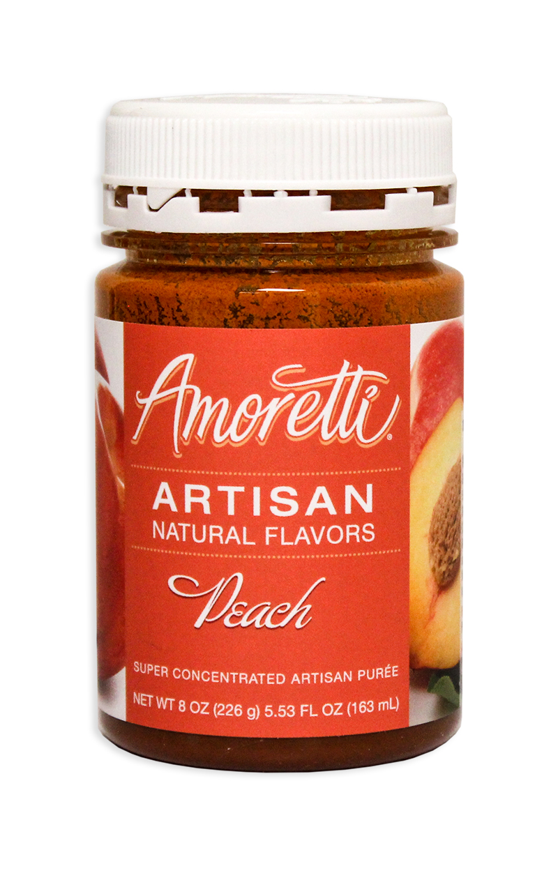 Amoretti Peach Fruit Puree, 8oz.-0