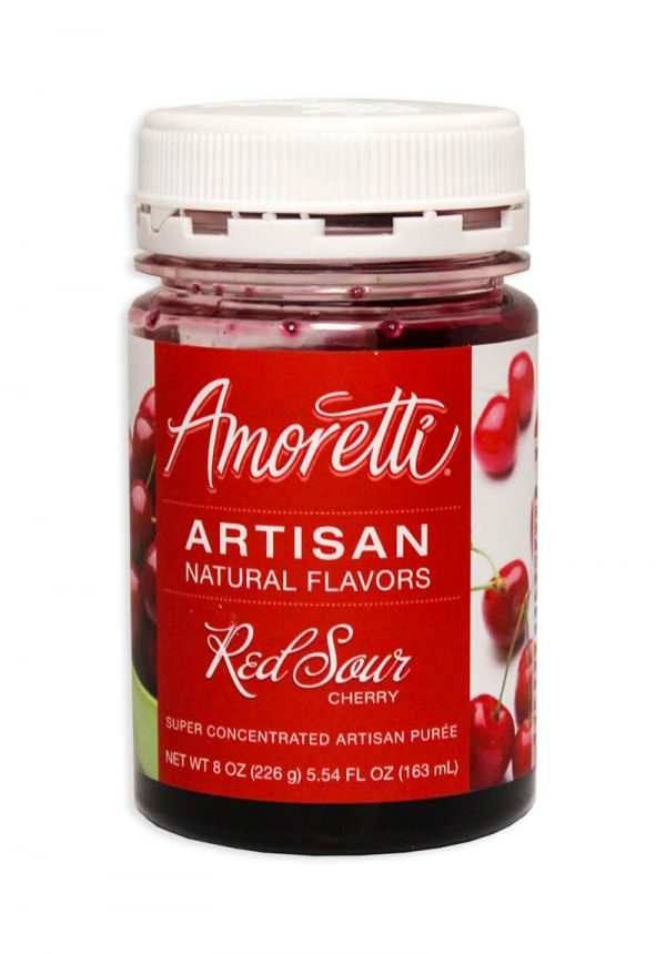 Amoretti Sour Cherry Fruit Puree, 8oz.-0