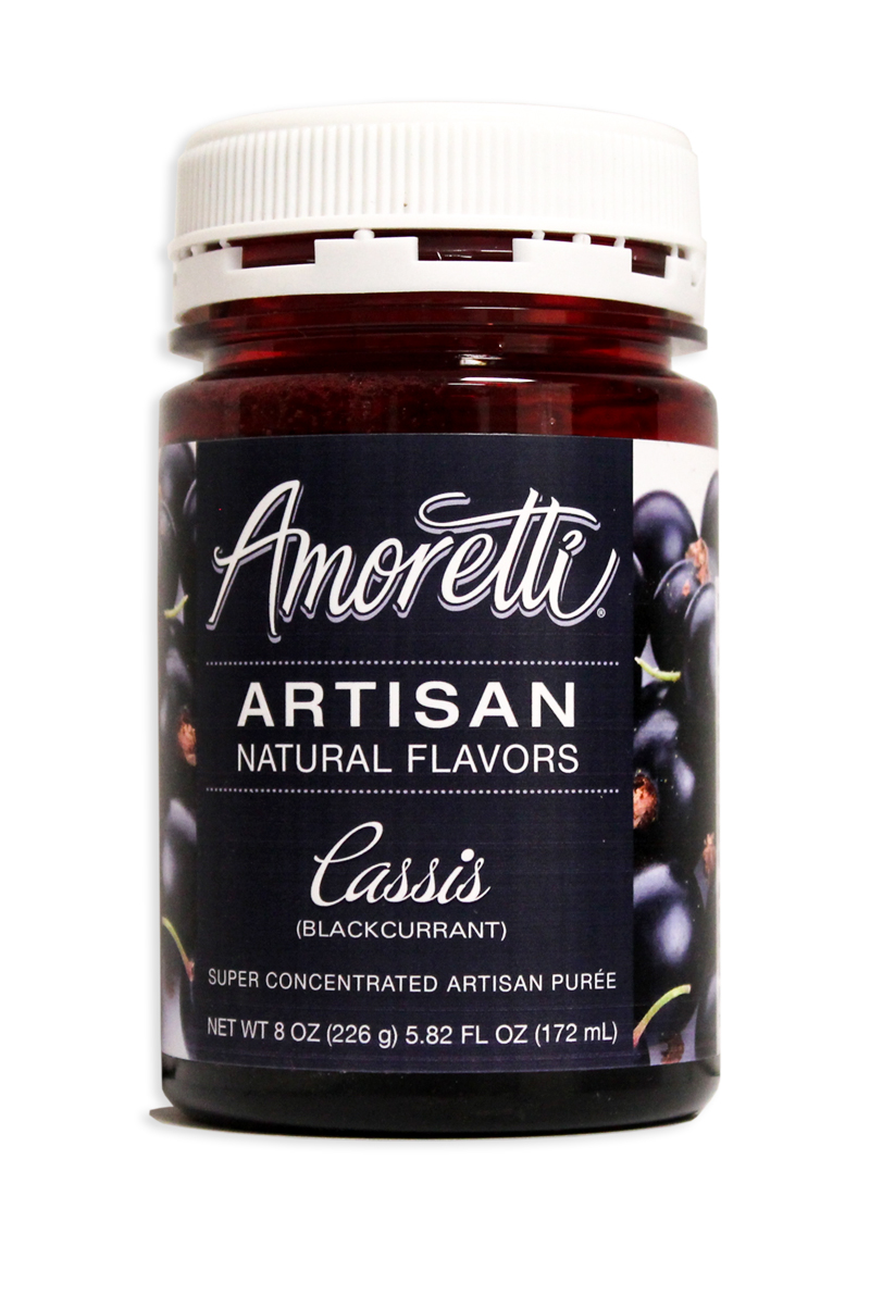 Amoretti Black Currant (Cassis) Fruit Puree, 8oz.-0