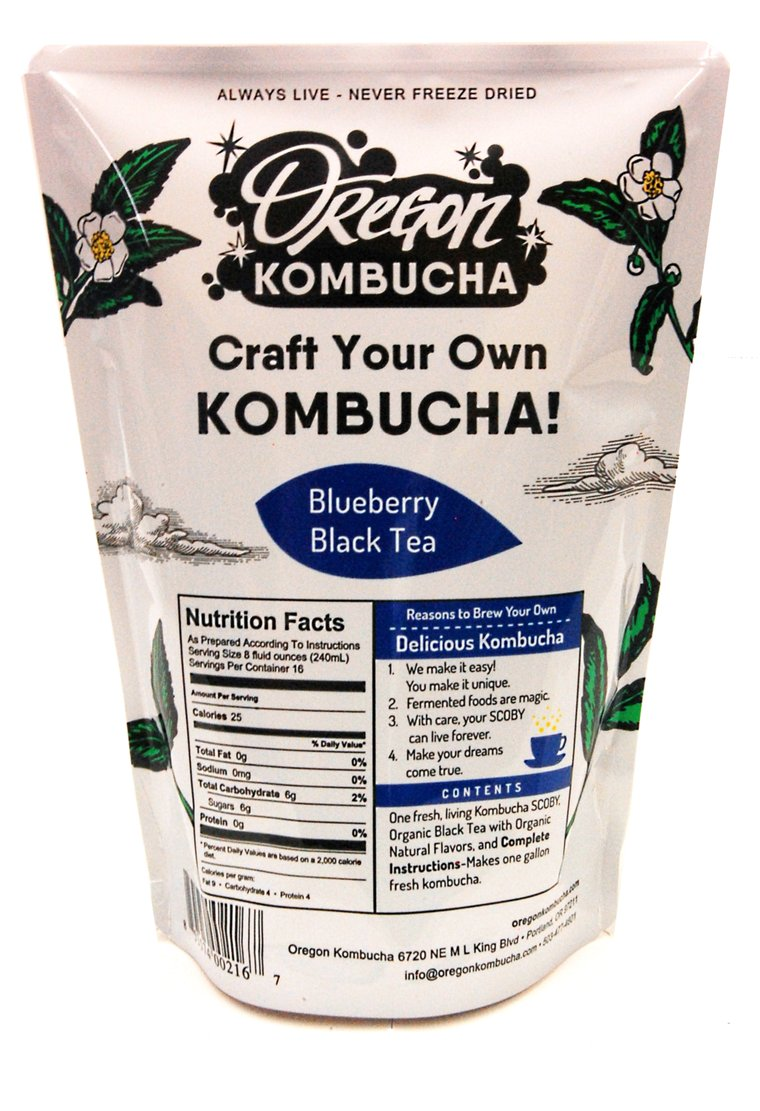 Oregon Kombucha Kit, Blueberry Black Tea-0