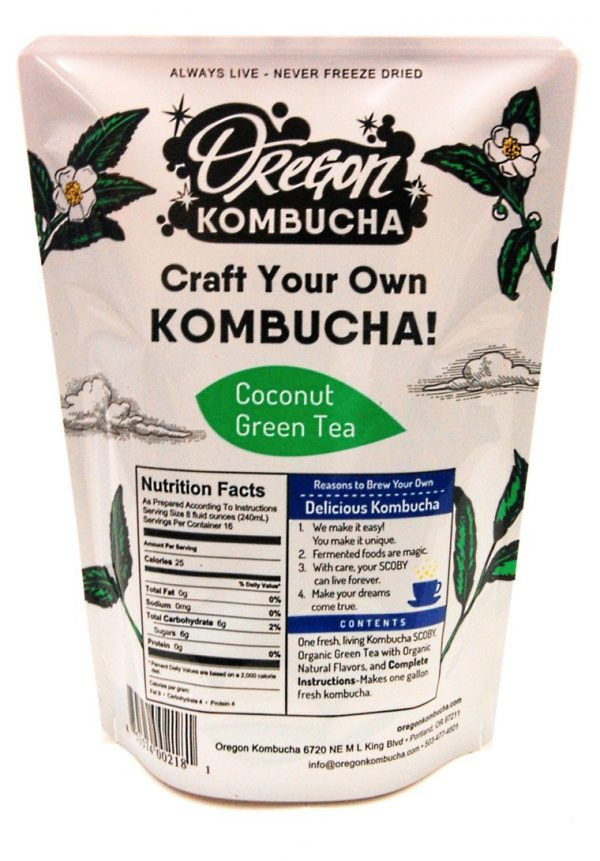 Oregon Kombucha Kit, Coconut Green Tea-0