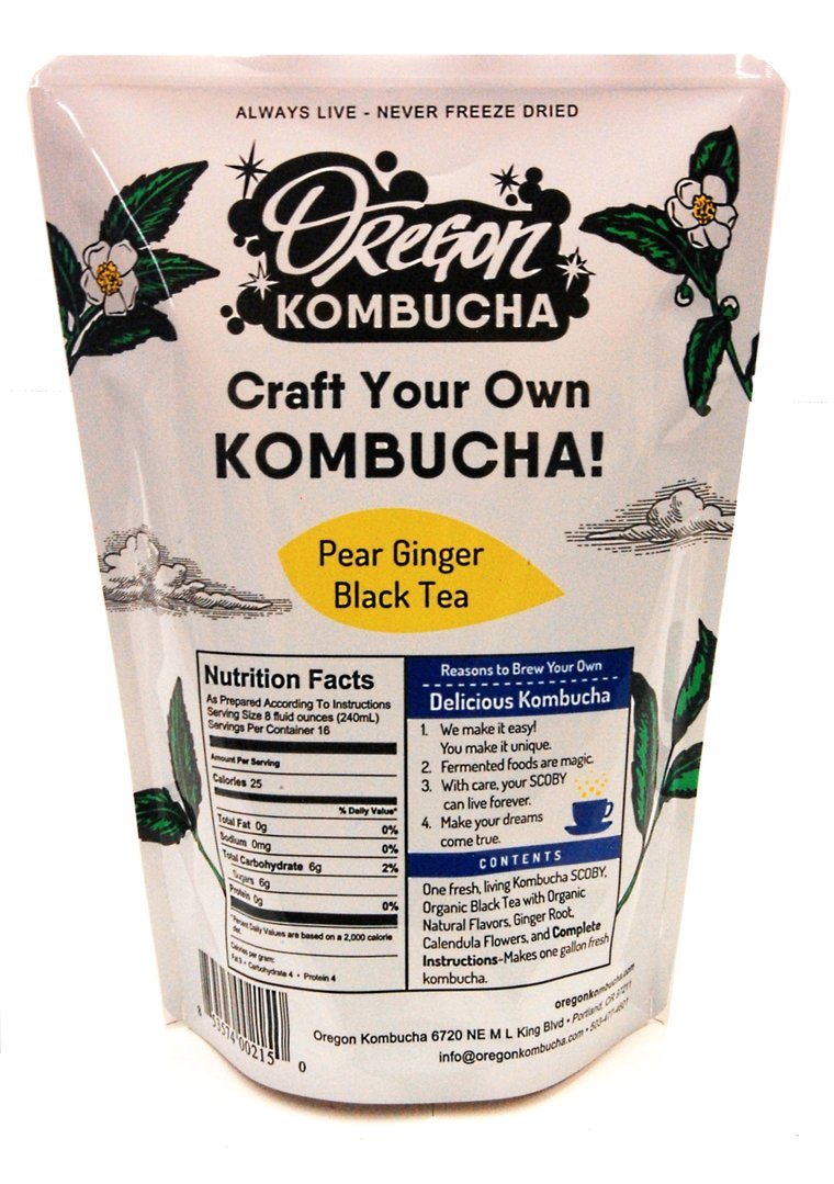 Oregon Kombucha Kit, Pear Ginger Black Tea-0