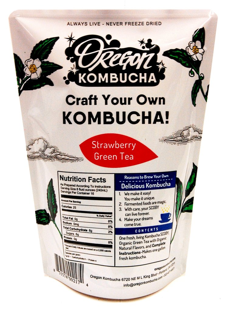 Oregon Kombucha Kit, Strawberry Green Tea-0