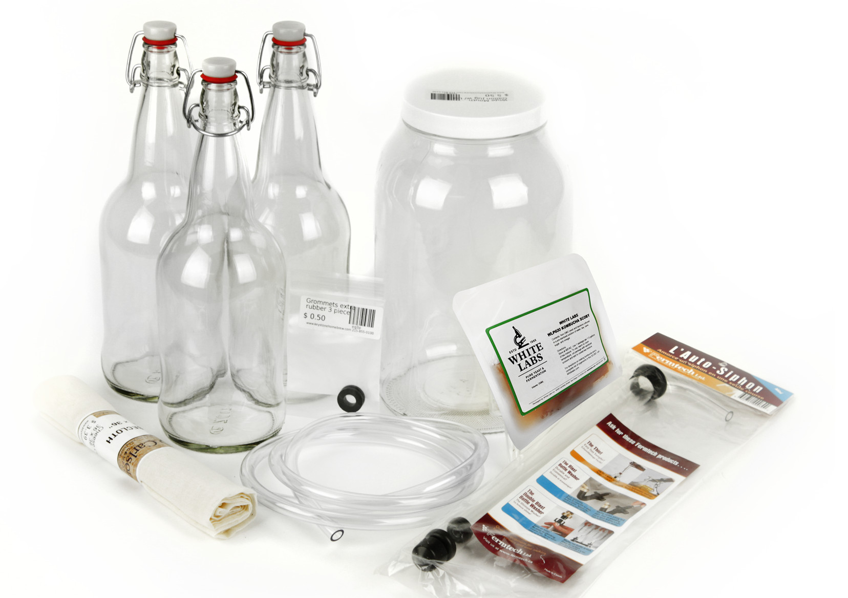 Kombucha Starter Equipment Kit with Ingredients-0