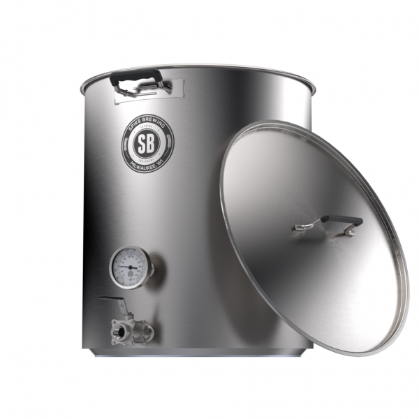 Spike Brewing Kettle V4, 10 Gallon, Two Vertical Couplers-0