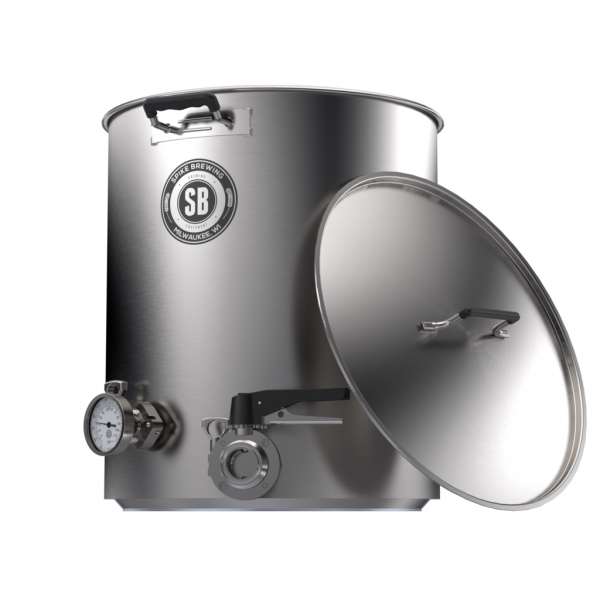 Spike+ Brewing Kettle V4, 30 Gallon, Two Tri-Clamps-0