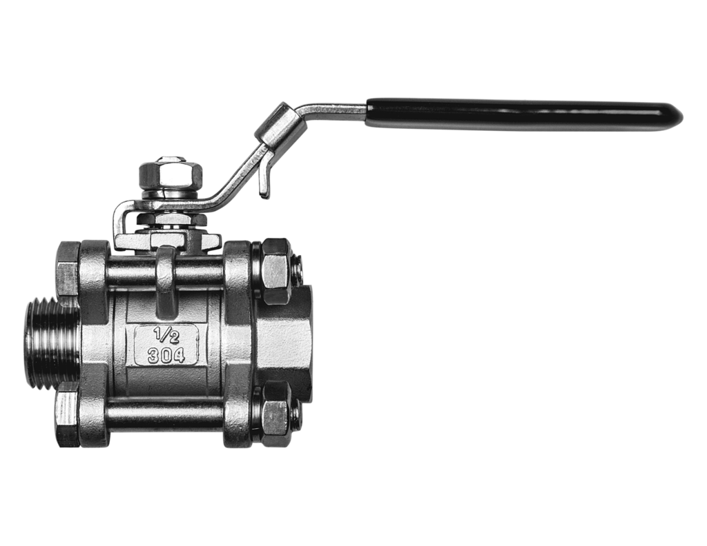 "Spike Brewing Kettle 3 Piece Valve, 1/2"" NPT-0"